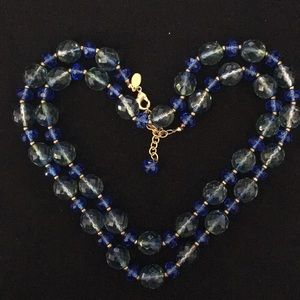 Joan Rivers Blue & Green Beaded Necklace